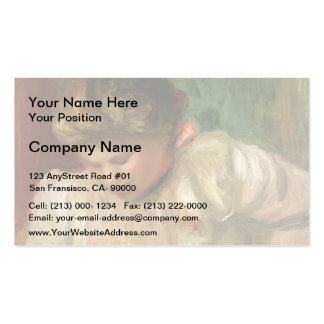 Pierre-Auguste Renoir- Bust of a Girl Pack Of Standard Business Cards