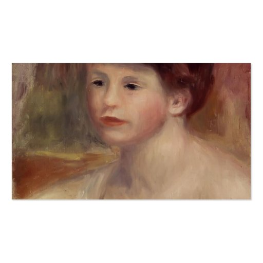 Pierre-Auguste Renoir- Bust of a Young Woman Business Card
