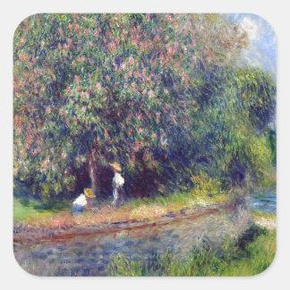 Pierre-Auguste Renoir Chestnut Tree Square Sticker