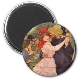 Pierre-Auguste Renoir - Danse à Bougival (1883) Fridge Magnet