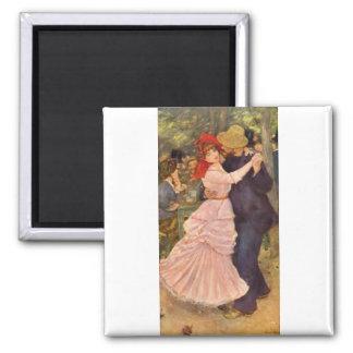 Pierre-Auguste Renoir - Danse à Bougival (1883) Square Magnet