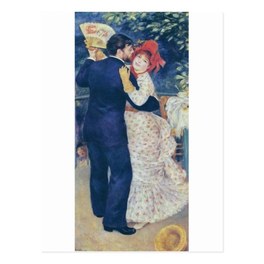 Pierre-Auguste Renoir - Danse à la campagne (1883) Postcard