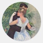 Pierre-Auguste Renoir - Danse à la ville (1883) Round Stickers