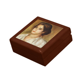 Pierre-Auguste Renoir-Gabrielle Wearing a Necklace Jewelry Boxes