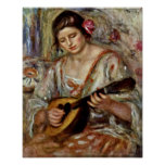 Pierre-Auguste Renoir - Girl with a Mandolin Poster