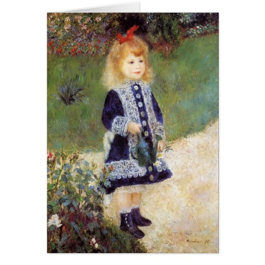 Pierre-Auguste Renoir- Girl with a Watering Can Card