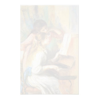 Pierre-Auguste Renoir- Girls at the Piano Custom Stationery