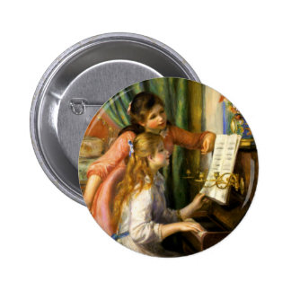 Pierre-Auguste Renoir - Jeunes Filles au Piano 6 Cm Round Badge