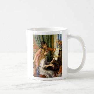 Pierre-Auguste Renoir - Jeunes Filles au Piano Basic White Mug