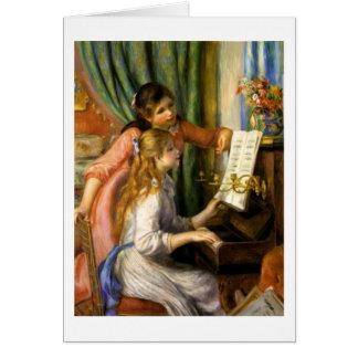 Pierre-Auguste Renoir - Jeunes Filles au Piano Card