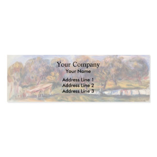Pierre-Auguste Renoir- Landscape with Orchard Business Card Templates