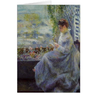 Pierre-Auguste Renoir- Madame Chocquet Reading Greeting Card