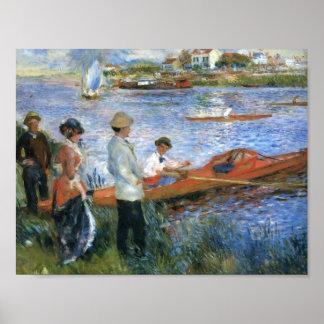 Pierre-Auguste Renoir- Oarsmen at Chatou Print
