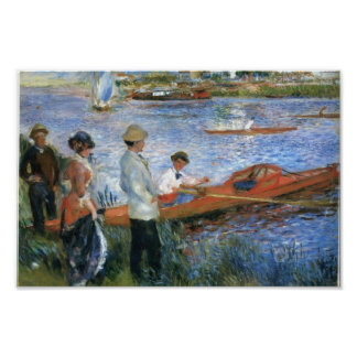 Pierre-Auguste Renoir- Oarsmen at Chatou Posters