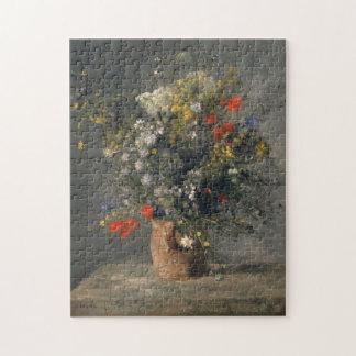 Pierre Auguste Renoir Painting, Flowers In A Vase Puzzle