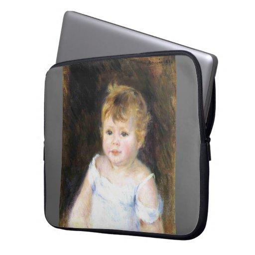 Pierre-Auguste Renoir- Portrait of an Infant Laptop Sleeves