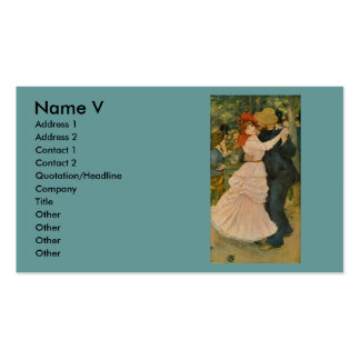 Pierre-Auguste Renoir s Dance at Bougival 1883 Business Card Templates