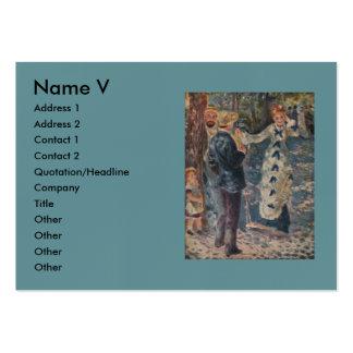 Pierre-Auguste Renoir s The Swing 1876 Business Card