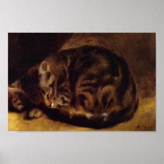 Pierre-Auguste Renoir- Sleeping Cat Poster