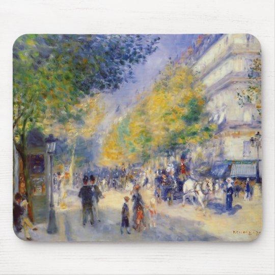 Pierre-Auguste Renoir- The Great Boulevards Mouse Mat