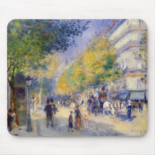 Pierre-Auguste Renoir- The Great Boulevards Mouse Pad