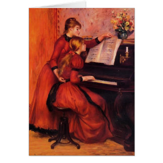 Pierre-Auguste Renoir- The Piano Lesson Greeting Card