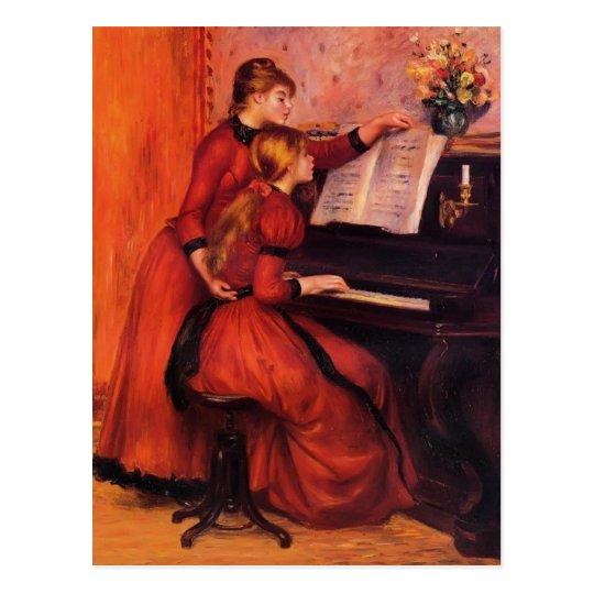 Pierre-Auguste Renoir- The Piano Lesson Postcard
