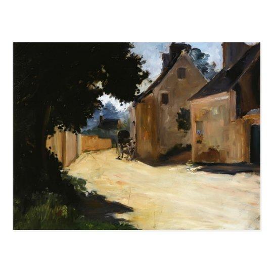 Pierre-Auguste Renoir-Village Street, Louveciennes Postcard