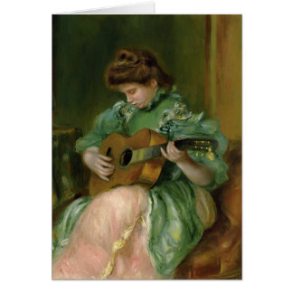 Pierre-Auguste Renoir- Woman with a Guitar Greeting Card
