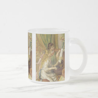 Pierre-Auguste Renoir, Young girl at the piano Frosted Glass Coffee Mug
