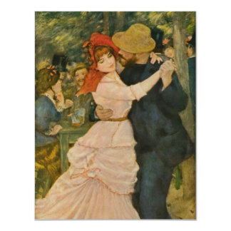 Pierre-Auguste Renoir's Dance at Bougival (1883) 11 Cm X 14 Cm Invitation Card