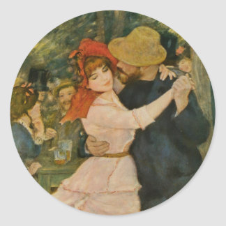 Pierre-Auguste Renoir's Dance at Bougival (1883) Classic Round Sticker