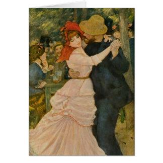 Pierre-Auguste Renoir's Dance at Bougival (1883) Greeting Card
