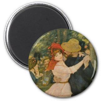 Pierre-Auguste Renoir's Dance at Bougival (1883) 6 Cm Round Magnet