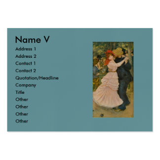 Pierre-Auguste Renoir's Dance at Bougival (1883) Pack Of Chubby Business Cards
