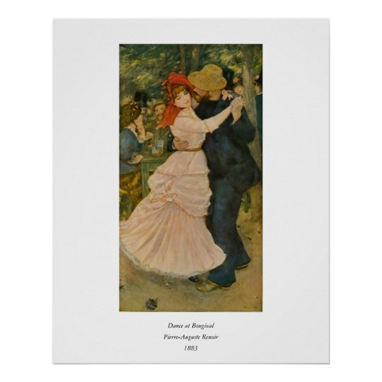 Pierre-Auguste Renoir's Dance at Bougival (1883) Poster
