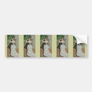 Pierre-Auguste Renoir's Dance in the Town (1883) Bumper Sticker