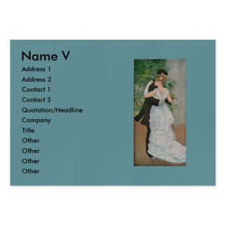 Pierre-Auguste Renoir's Dance in the Town (1883) Pack Of Chubby Business Cards