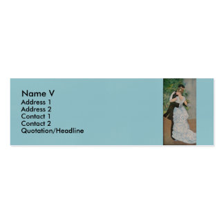 Pierre-Auguste Renoir's Dance in the Town (1883) Pack Of Skinny Business Cards