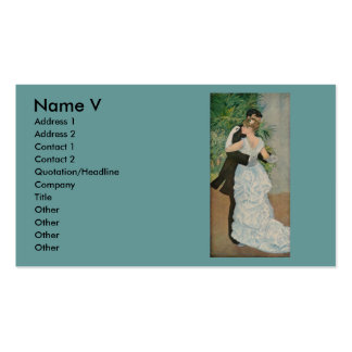 Pierre-Auguste Renoir's Dance in the Town (1883) Pack Of Standard Business Cards
