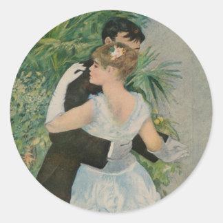 Pierre-Auguste Renoir's Dance in the Town (1883) Round Sticker