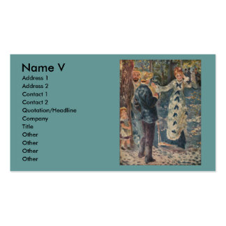 Pierre-Auguste Renoir's The Swing (1876) Pack Of Standard Business Cards
