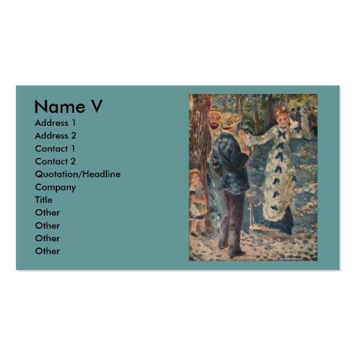 Pierre-Auguste Renoir's The Swing (1876) Business Card