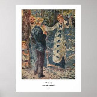 Pierre-Auguste Renoir's The Swing (1876) Poster