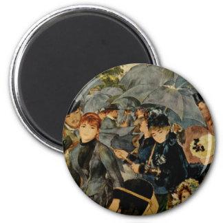 Pierre-Auguste Renoir's The Umbrellas (1883) 6 Cm Round Magnet