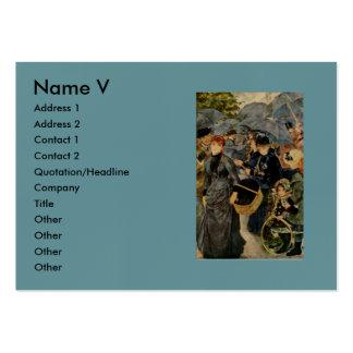 Pierre-Auguste Renoir's The Umbrellas (1883) Business Card Template