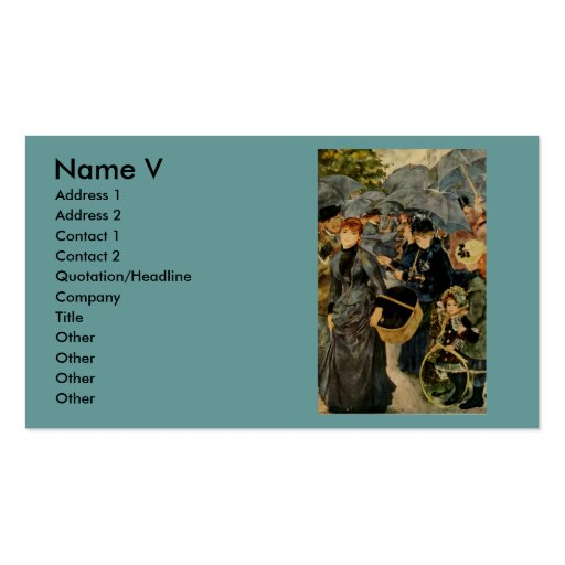 Pierre-Auguste Renoir's The Umbrellas (1883) Business Card