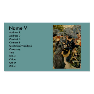 Pierre-Auguste Renoir's The Umbrellas (1883) Pack Of Standard Business Cards