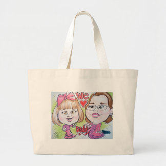 Pierre Bossier Mall Caricature Baby with Mom Tote Bag