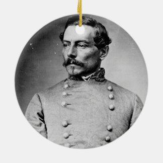 Pierre Gustave Toutant Beauregard Confederate Round Ceramic Decoration